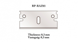 Razor blade 0,3mm 5 pcs