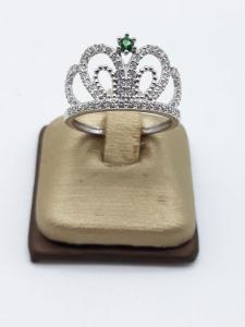 Anello Donna in oro bianco a corona, vendita on line | GIOIELLERIA BRUNI Imperia