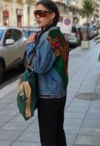 Giubbotto a Jeans vintage ANNI 80 OVERSIZE REMAKE