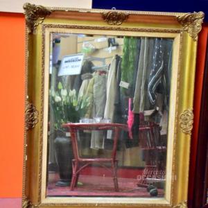 Specchio In Legno Antico 80*105 Cm