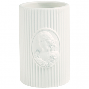 Porta spazzolino, in ceramica, Linea Marquise di Mathilde M.