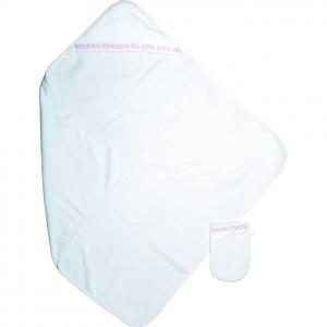 Accappatoio neonato completo di guanto per bagnetto, bimba Mathilde M