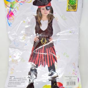 Costume Carnevale Piratessa Bambina Anni 4-5
