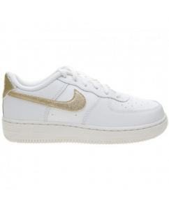 SNEAKERS NIKE AIR FORCE 1 (PS) WHITE/GOLD 314220-127