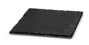 Piatto quadrato in ardesia cm.20x20