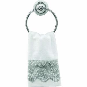 Asciugamano Viso, Linea Dentelle,bianco con motivo fiocco,  Mathilde M.