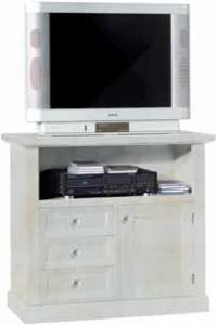 Porta TV 1 porta+3 cassetti in laccato Consumato
