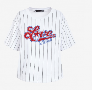 T-shirt rigata Love Moschino