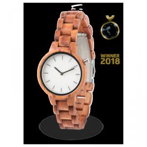 Orologio in legno MARMO ROSE 34 mm