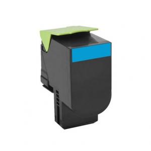 Toner Compatibile con Lexmark C802 CX310 Ciano