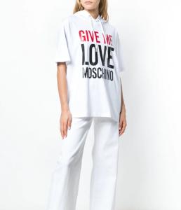 Felpa con slogan Love Moschino