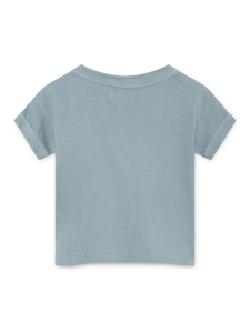 T-shirt unisex celeste con stampa