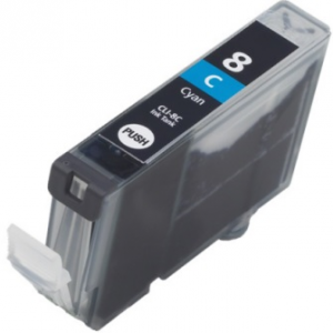 Cartuccia Compatibile con CANON CLI8 Ciano con chip