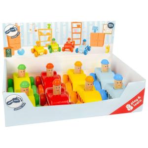 Macchinine da gioco in legno Display 8 pezzi