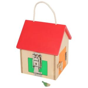 Casa delle chiusure compatta gioco in legno educativo per bambini