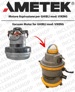 K VIKING Saugmotor AMETEK für Staubsauger GHIBLI