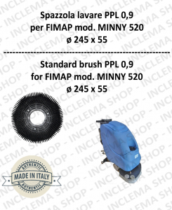 Strandard Wash Brush ppl 0,9 for Scrubber Dryer FIMAP mod. MINNY 520 con 3 pioli