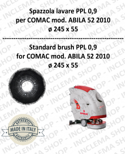 Strandard Wash Brush ppl 0,9 for Scrubber Dryer COMAC mod. ABILA 52 2010 con 3 pioli