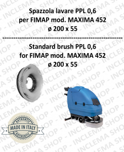 Strandard Wash Brush  for Scrubber Dryer FIMAP model MAXIMA 452 PPL 0,6 - ø200 X 55 mm