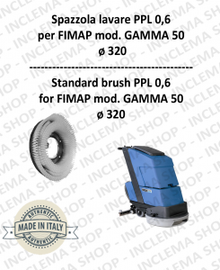 GAMMA 50 Strandard Wash Brush  in PPL 0,60 Dimension ø 495 X 120 3 pioli for Scrubber Dryer FIMAP