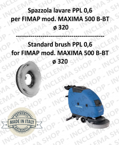 MAXIMA 500 B-BT Strandard Wash Brush  in PPL 0,60 Dimension ø 495 X 120 3 pioli for Scrubber Dryer FIMAP