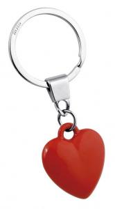 Portachiavi cuore rosso cm.8,5x3,5x1h