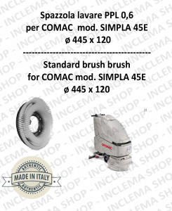 SPAZZOLA in LAVARE PPL 0,6 for Scrubber Dryer COMAC mod. SIMPLA 45E