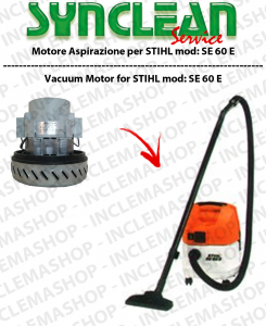 SE 60 E vacuum motor SYNCLEAN  for vacuum cleaner STIHL