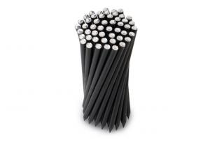 Tubo pvc con matite rigide cristallo trasparerente confezione 50 pezzi cm.6,5x6,5x18,5h