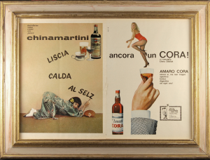 Quadro vintage pubblicità