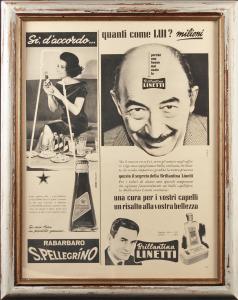 Quadro vintage Linetti Sanpellegrino