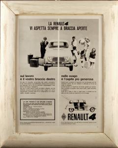 Quadro vintage Renault 4