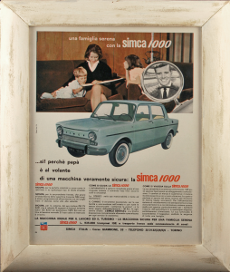 Quadro vintage Simca 1000