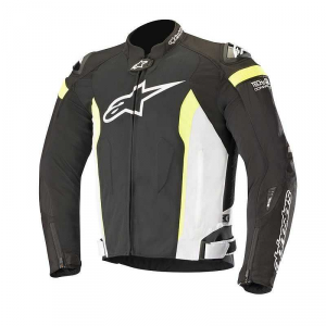 GIACCA ALPINESTARS T-MISSILE AIR BLACK WHITE YELLOW FLUO COD. 3300618