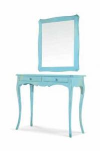 Consolle + Specchio in finitura laccato Consumato