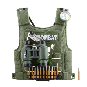KIDS TOYS TACTICAL VEST 5 IN 1