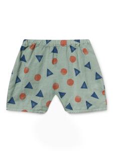 Pantaloncino verde unisex stampe blu arancioni