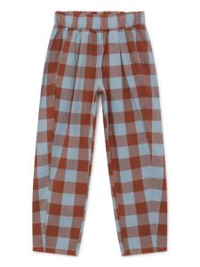 Pantalone unisex quadri marrone grigio
