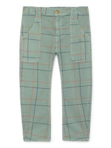 Pantalone verde unisex stampa blu arancione