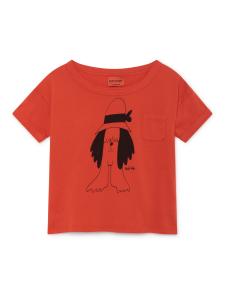 T-shirt rossa unisex stampa nera