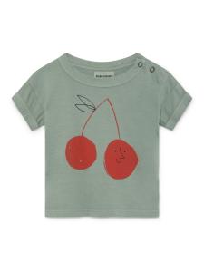 T-shirt verde unisex stampa rossa nera