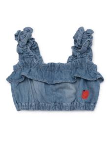 Top ragazza jeans con ricamo