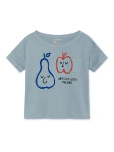 T-shirt celeste unisex stampa frutta colorata