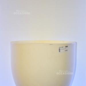 Vaso Teraplast Bianco 42 Cm