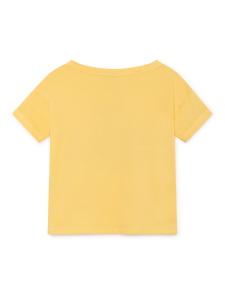 T-shirt gialla unisex stampa blu arancione