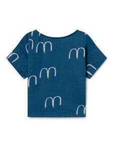 T-shirt blu unisex stampe bianche