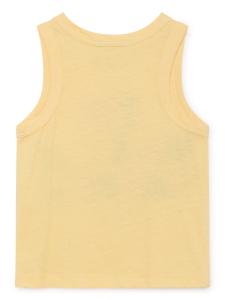 Canotta gialla unisex stampa blu arancione