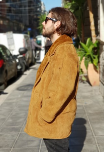 CAPPOTTO IN SHEARLING OVERSIZE VINTAGE ANNI 90