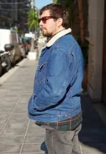 GIACCA IN JEANS INTERNO IN LANA ANNI 90 OVERSIZE  VINTAGE