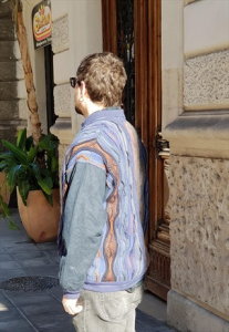 GIACCA MULTICOLOR IN LANA ANNI 90 OVERSIZE VINTAGE